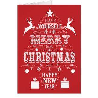 árbol de navidad moderno de la tipografía del tarjeta de felicitación