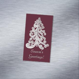 Árbol de navidad moderno de los saludos de la tarjetas de visita magnéticas (paquete de 25)