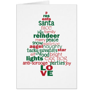 Árbol de navidad moderno tarjeta de felicitación