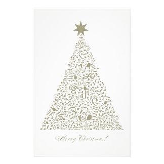 Árbol de navidad musical papelería
