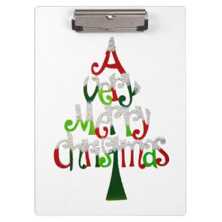 Árbol de navidad muy feliz carpeta de pinza