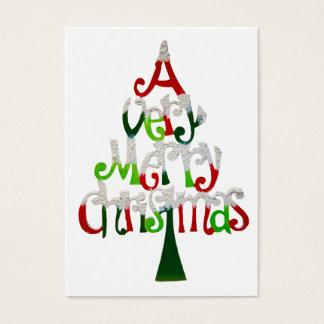 Árbol de navidad muy feliz tarjeta de negocios