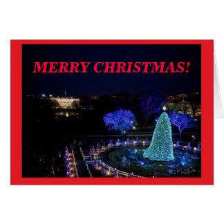 Árbol de navidad nacional personalizado - tarjeta