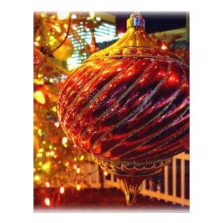 Árbol de navidad Orniment Flyer Personalizado