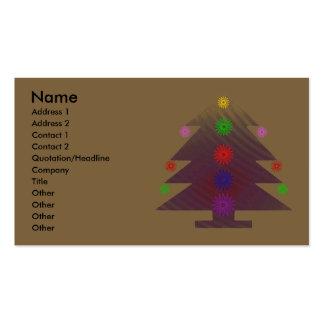 Árbol de navidad - púrpura adornada tarjetas personales