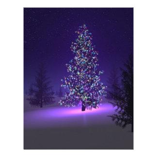 Árbol de navidad púrpura folleto 21,6 x 28 cm