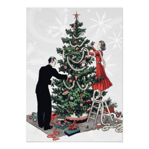 Árbol de navidad retro comunicado personalizado