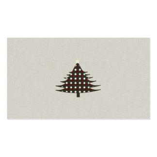 Árbol de navidad rústico tarjeta de visita
