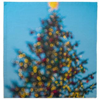 Árbol de navidad servilleta de tela