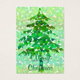 Árbol de navidad - tarjeta de etiqueta del regalo