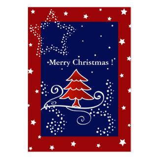 Árbol de navidad - tarjeta de etiqueta del regalo plantilla de tarjeta de visita