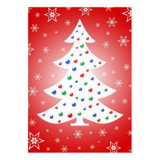 Árbol de navidad - tarjeta de etiqueta del regalo tarjetas de visita grandes