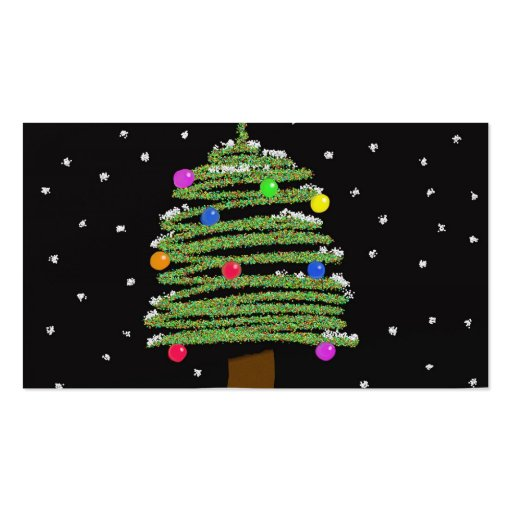 Árbol de navidad tarjeta de visita