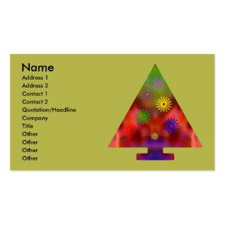 Árbol de navidad - triángulo adornado plantilla de tarjeta personal