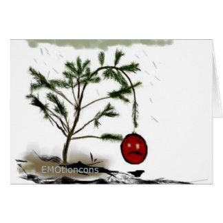 Árbol de navidad triste tarjeta