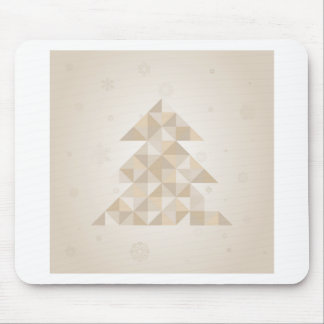 Árbol de navidad un triángulo alfombrilla de ratón