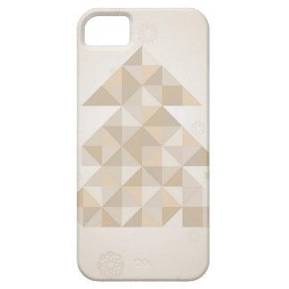 Árbol de navidad un triángulo funda para iPhone SE/5/5s