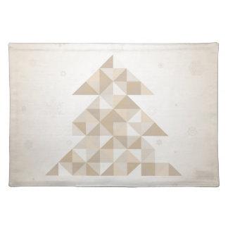 Árbol de navidad un triángulo salvamanteles