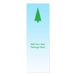 Árbol de navidad verde Azul y blanco Texto de en Plantilla De Tarjeta De Negocio