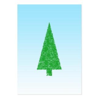 Árbol de navidad verde. Azul y blanco. Texto de en Plantillas De Tarjeta De Negocio