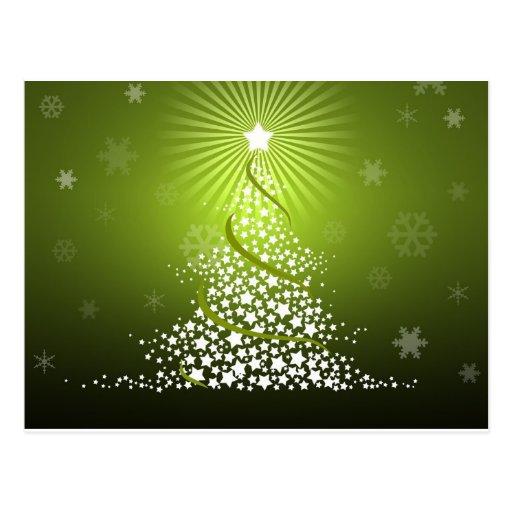 Rbol de navidad verde del vector postal zazzle for Arbol navidad verde