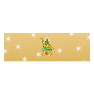 Árbol de navidad y animales tarjetas de visita mini