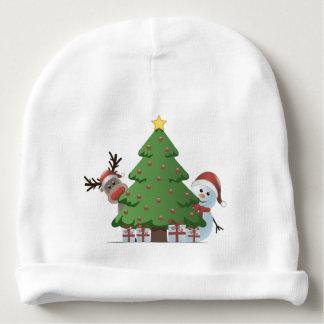 Árbol de navidad y ciervos de Papá Noel del Año Gorrito Para Bebe