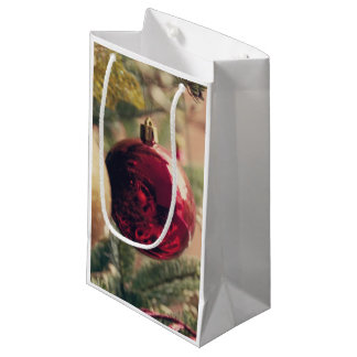 Árbol de navidad y decoración bolsa de regalo pequeña