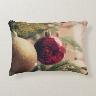 Árbol de navidad y decoración cojín