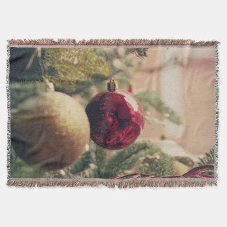 Árbol de navidad y decoración manta