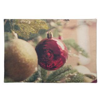 Árbol de navidad y decoración mantel individual