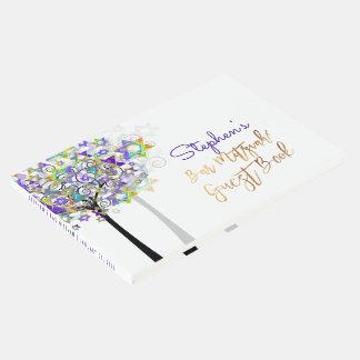 Árbol de PixDezines de la barra Mitzvah/púrpura de Libro De Visitas