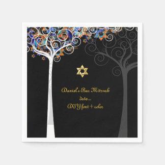 Árbol de PixDezines de la vida/del mitzvah Servilletas De Papel