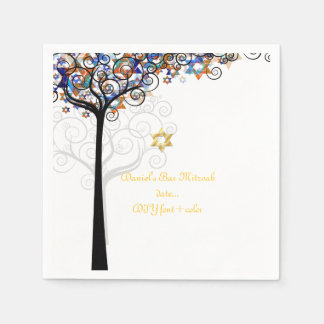 Árbol de PixDezines de la vida/del mitzvah Servilletas Desechables