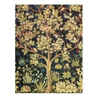 Árbol de William Morris del Pre-Raphaelite del Postal