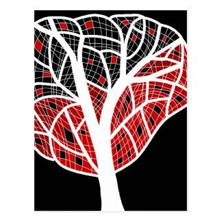 Árbol decorativo 4 postal