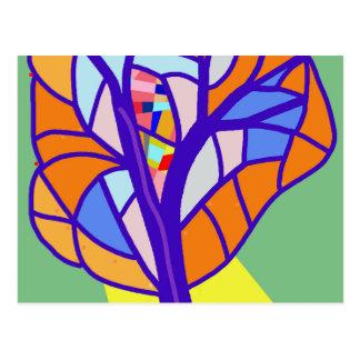 Árbol decorativo 5 postal