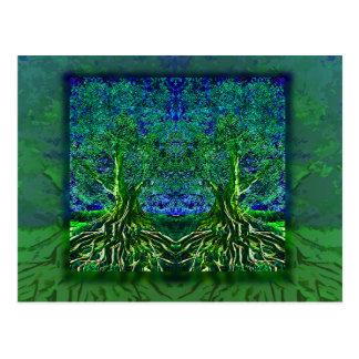 Árbol del agradecimiento de la vida tarjetas postales