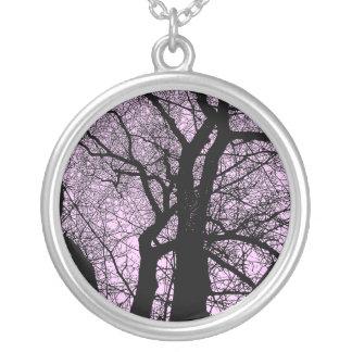 Árbol del alto contraste - palidezca - rosa colgante redondo