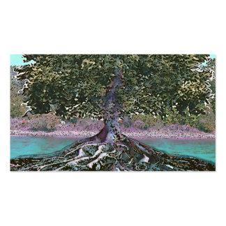 Árbol del borde de los lagos life plantilla de tarjeta de visita