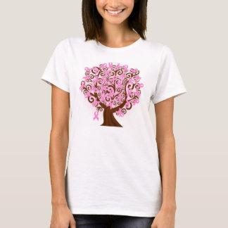 Árbol del cáncer de pecho de Hanes de la esperanza Camiseta