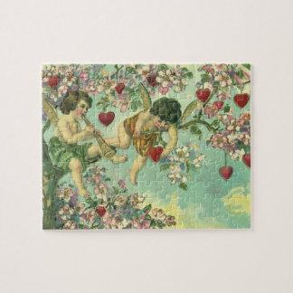 Árbol del corazón de los Cupids del día de San Puzzle