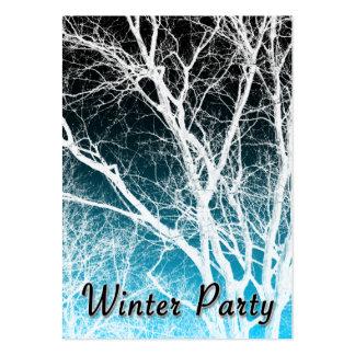 árbol del fantasma del fiesta del invierno tarjetas de visita grandes