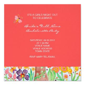 Árbol del fiesta de Bachelorette de la vida Invitacion Personalizada
