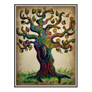 Árbol del Hippie Tarjeta Postal