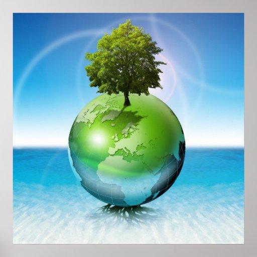 Árbol del mundo - concepto de la ecología impresiones