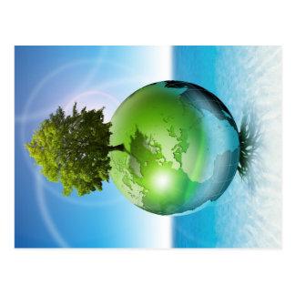 Árbol del mundo - concepto de la ecología tarjeta postal