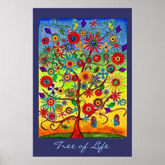 Árbol del poster de la vida