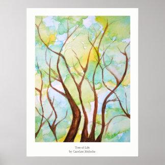 Árbol del poster del arte de la vida