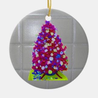 Árbol del rosa de la teja del cuarto de baño adorno de navidad